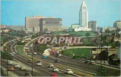 CPM Hollywood Freeway Looking Towards Civic Center Los Angels California