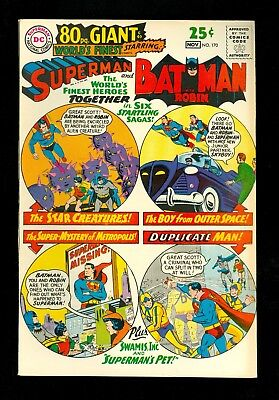 WORLD'S FINEST #170 -- November 1967 -- 80 Page Giant -- VF/NM Or Better