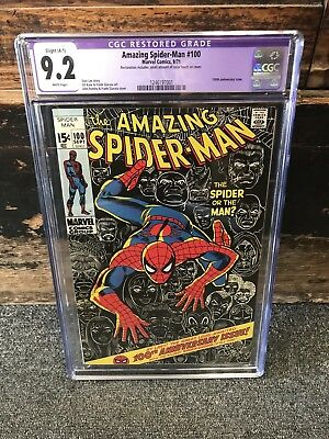Amazing Spider-Man #100 Cgc Restored 9.2 Marvel Comics 1971 Small Color Touch