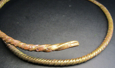 Ancient Viking Neck Torc Snake.Cleared.(1.2).