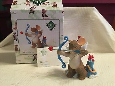 "Charming Tails ""I AIM TO LOVE YOU"" DEAN GRIFF NIB VALENTINES DAY"
