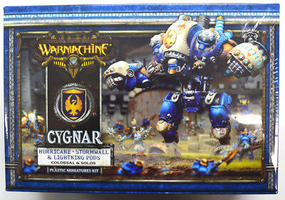 Warmachine Cygnar Hurricane / Stormwall & Lightning Pods Colossal PIP 31112