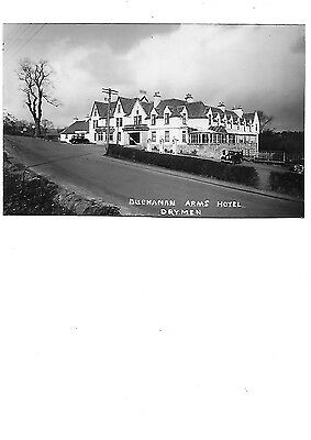 DRYMEN Buchanan Arms Hotel RP Postcard Stirlingshire 1950 Postmark