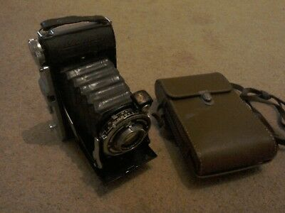 Early Folding camera...Prontor -S........AGC.   with case.