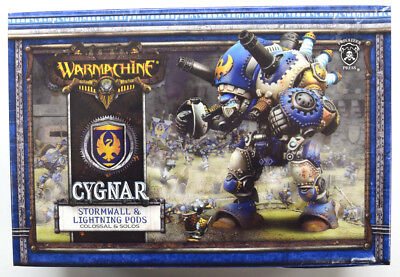 Warmachine Cygnar Stormwall & Lightning Pods Colossal & Solos PIP 31050
