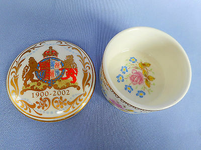 Beautiful Small Ceramic Box To Celebrate The Life Of The Queen Mother ~ Pristine