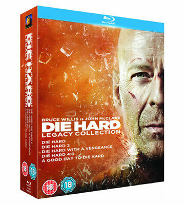 Die Hard Legacy Collection (5 Films) NEW Cult Blu-Ray 6-Disc Set Bruce Willis