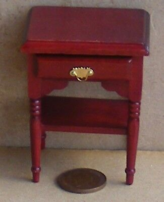 1:12 Scale Mahogany Wooden Side Wall Hall - Bed Table Dolls House Furniture