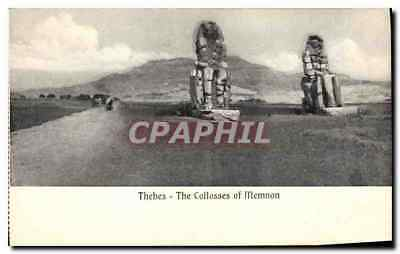CPA Egypt Egypte Thebes The Collosses of Memnon