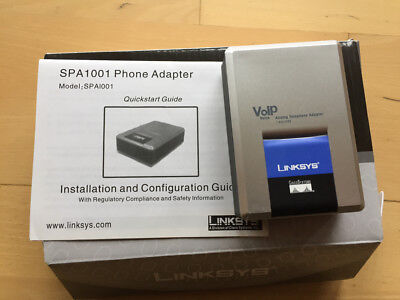 Linksys Analog Phone Adapter SPA1001