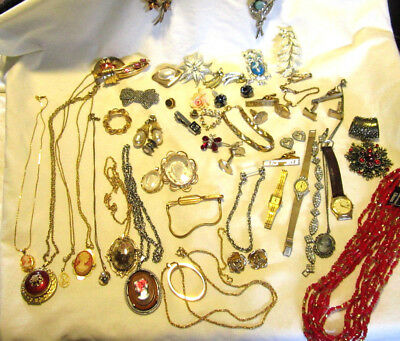 Lot of VIntage Costume Jewelry Some Signed Mixed Lot Sterling Napier Coro Sarah