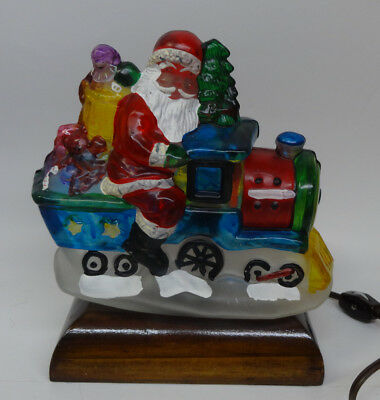 E M Merch 1989 Old World Christmas Locomotive  with box and light