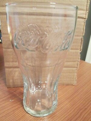 Coca Cola Glass Tumbler Raised Letters Clear