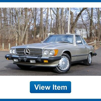 1986 Mercedes-Benz SL-Class Base Convertible 2-Door 1986 Mercedes Benz 560SL Soft Hard Top Convertible Serviced Rear Seat CARFAX!