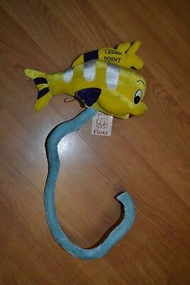 "Cedar Point Amusement Park Fiesta Bendable Plush Fish Stuffed Animal 13"" New Tag"