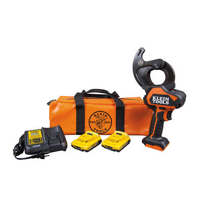 Klein Tools BAT20-G1 Battery-Operated ACSR Closed-Jaw Cable Cutter Kit