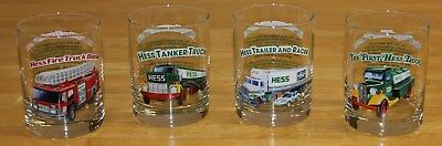 Hess Toy Truck 1996 Classic Truck Series Glasses Set of 4 Local Pick Up OK
