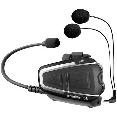 Scala Rider Q3 Multi Set Motorcycle Headset Bike Helmet Intercom System
