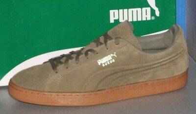890d8b944f73 MENS PUMA SUEDE EMBOSS in colors BURNT OLIVE GREY   GUM SIZE 11.5 ...