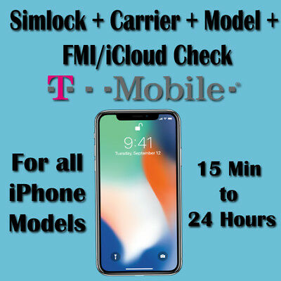 T-mobile USA Check Service Carrier Model SimLock Status For All iPhone Models