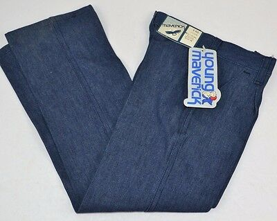 Vtg  MAVERICK Blue Bell Girls Dark Blue Denim Tapered Leg Jeans 6 Reg - NOS