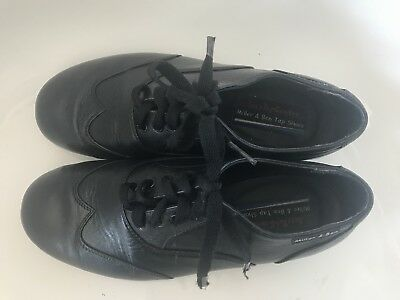 Miller and Ben Black Tap Shoes W Size 38 equiv. to 7 gently used black leather