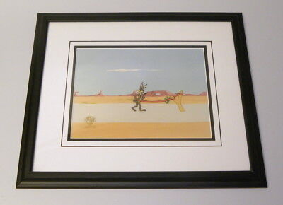 Warner Bros. Looney Tunes Wile E. Coyote Commercial Production Cel Animation Art