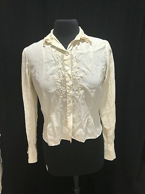 Vintage Blouse with French Cuffs, 1920s or 30s Silk?