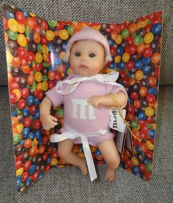 """Ashton Drake M&M'S Melt in Your Heart """"Sweet as Can be"""" Baby Doll - Light Pink"""