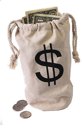 Money Bag Quality 21cm Robber Burglar Loot Sack Swag Wild West Thief Outlaw