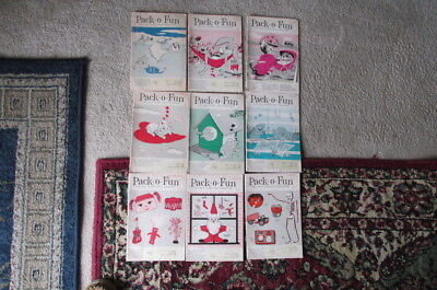 9 Vintage Pack O Fun Scrap Craft Magazines 1964 Christmas Halloween Easter + L26