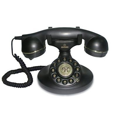 New Deluxe Corded Telephone Vintage Retro House Phone Classic Style Ringer Uk