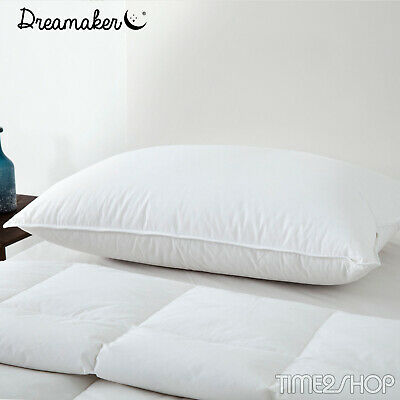 LUXURIOUS DUCK DOWN 50/50 PILLOW Cotton JAPARA Cover 73x 48cm HOTEL STANDARD