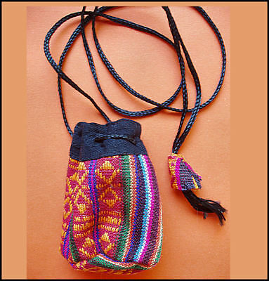 Tibetan Small Drawstring Coin Purse/ Pouch - Made in Nepal