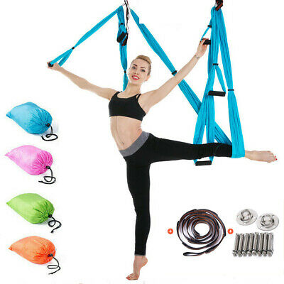 Aerial Yoga Hammock Anti-Gravity Sling Swing Trapeze Invertion Fitness Home Gym