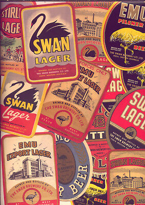 Wa: Vintage  Beer Labels: Swan Lager & Emu Export  (14) Low  Reserve