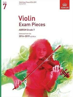 ABRSM Violin Exam Pieces Grade 7 2016-2019 - Score & Part (Violin and Piano)