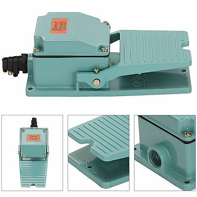 Durable Antislip Industrial Foot Operated Pedal Switch Footswitch AC 250V 15A
