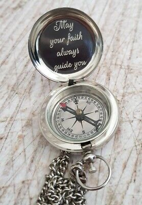silver compass, engraved compass, personalized compass, working compass