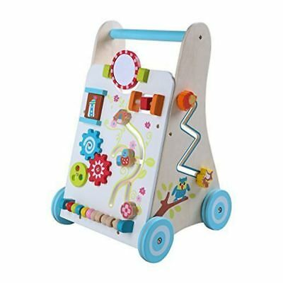 Leomark Baby First Steps Wooden Activity Walker 12 Months + New