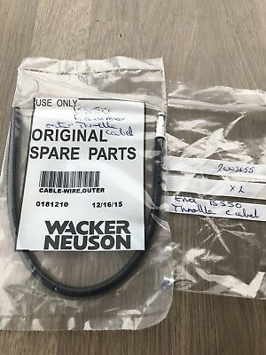 Wacker Bs50-2 Upright Rammer Outer Throttle Cable And Nipple Spare Parts