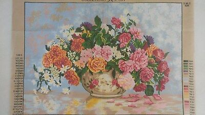 Large Vase of Flowers - Collection D'Art Tapestry Canvas 12965