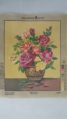 Vase of Flowers - Collection D'Art Tapestry Canvas 11540