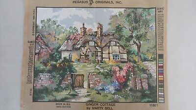 Ginger Cottage by Marty Bell - Collection D'Art Tapestry Canvas 11801