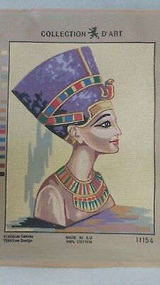 Nefertiti Egyptian Queen - Collection D'Art Tapestry Canvas 11154
