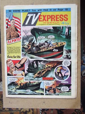 TV Express No 345 (1961). Incl Biggles full colour comic strip serial.