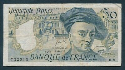 """France: 1977 50 Francs """"PALACE of VERSAILLES"""" front. Pick 152a"""