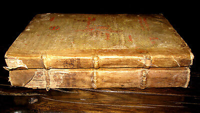 1100s ILLUMINATED Manuscript w/2v 1522 CHRYSOSTOM Bible CHURCH Medieval VELLUM