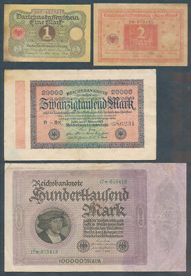 Germany: WEIMAR REPUBLIC 1920-1923 COLLECTION of 7 different. Nice starter lot