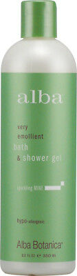 Sparkling Mint Bath & Shower Gel, Alba Botanica, 32 oz